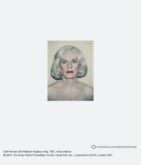 Andy Warhol, Self-Portrait with Platinum Pageboy Wig (1981)