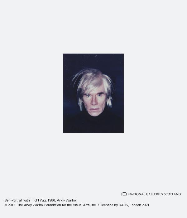 Andy Warhol, Self-Portrait with Fright Wig (1986)