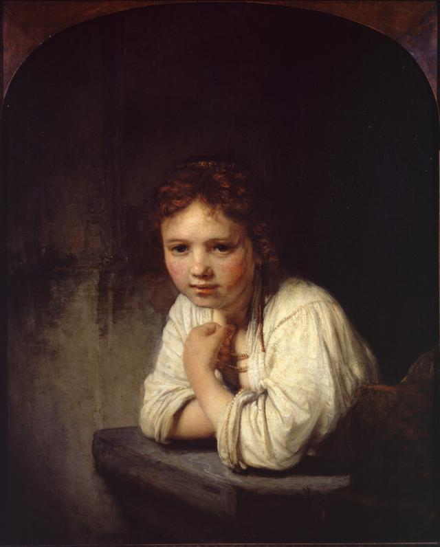 Rembrandt: Girl at a Window