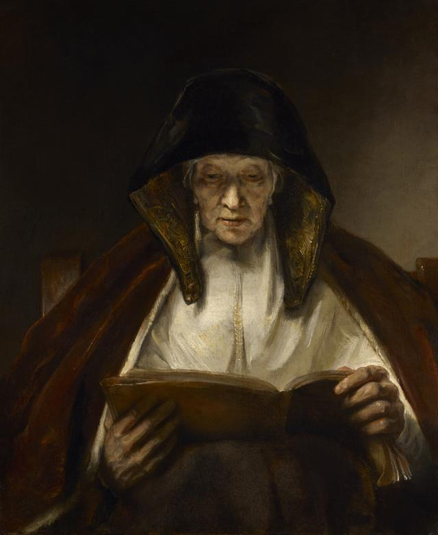 Rembrandt: An Old Woman Reading