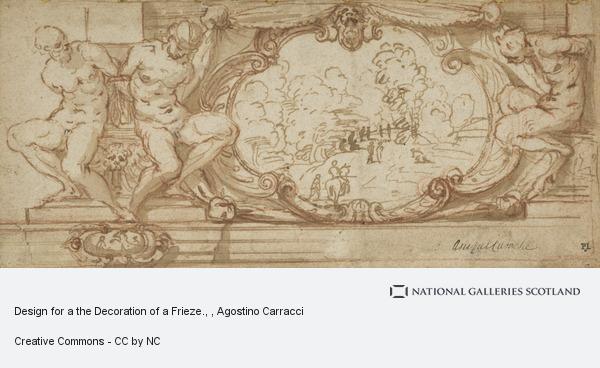 Agostino Carracci, Design for a the Decoration of a Frieze.