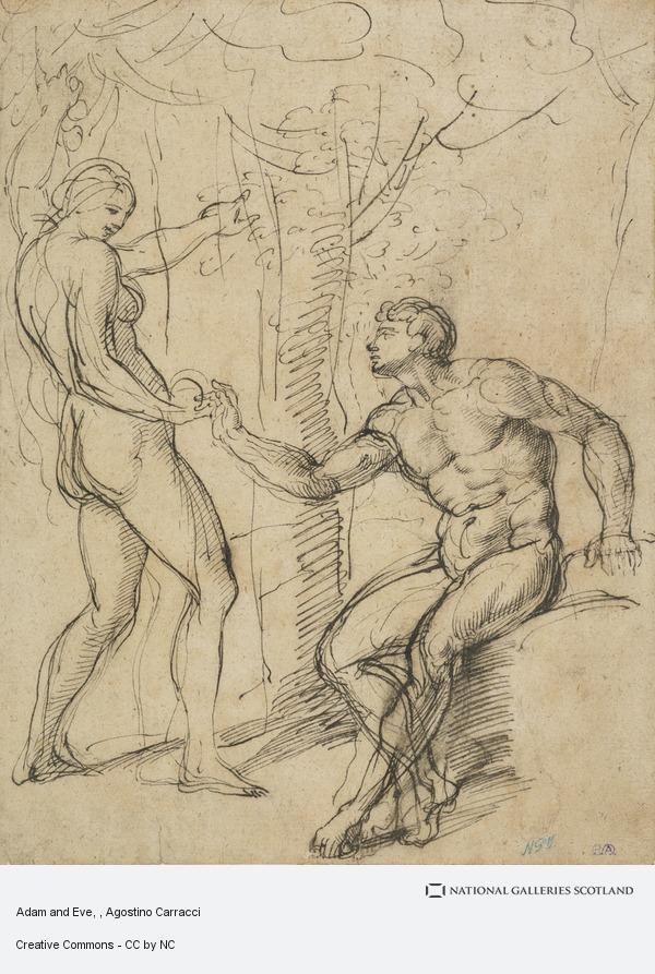Agostino Carracci, Adam and Eve