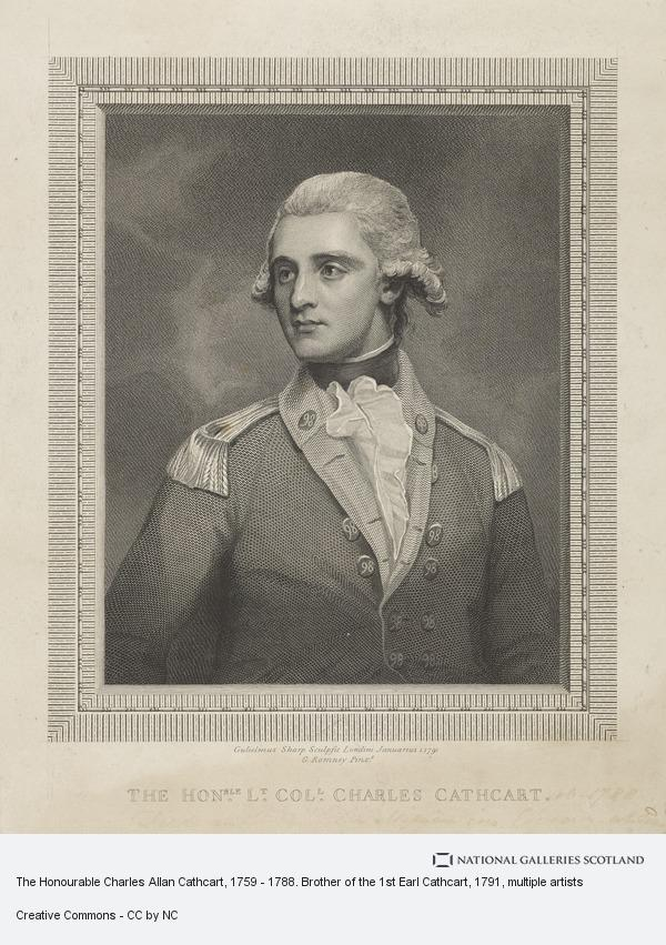 William Sharp, The Honourable Charles Allan Cathcart, 1759 - 1788. Brother of the 1st Earl Cathcart