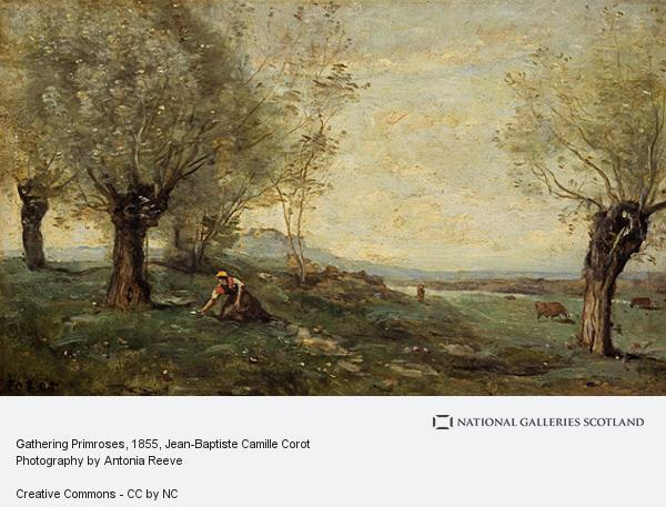 Jean-Baptiste Camille Corot, Gathering Primroses