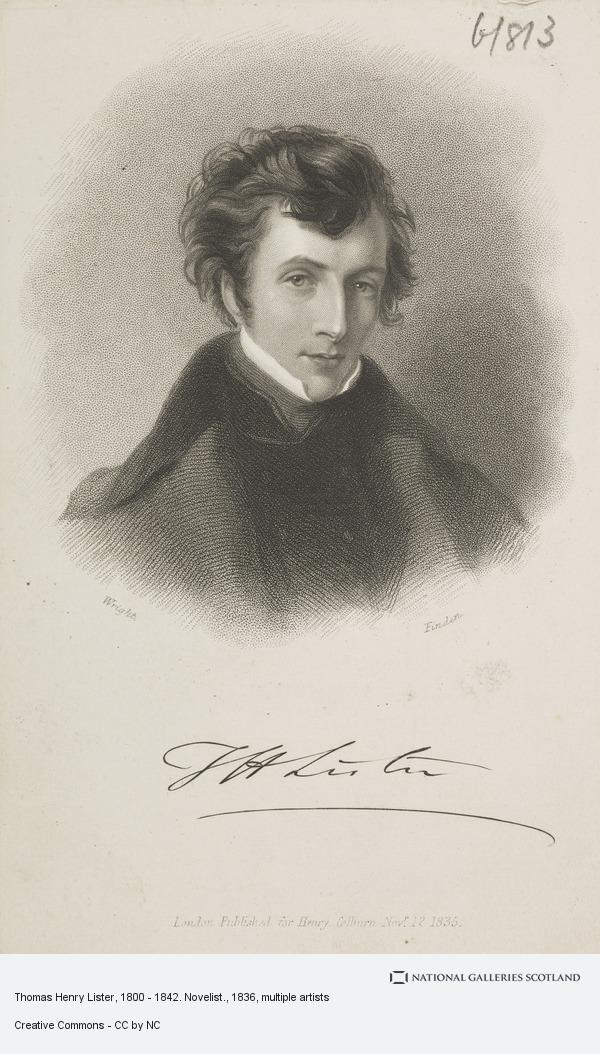 Wright, Thomas Henry Lister, 1800 - 1842. Novelist.