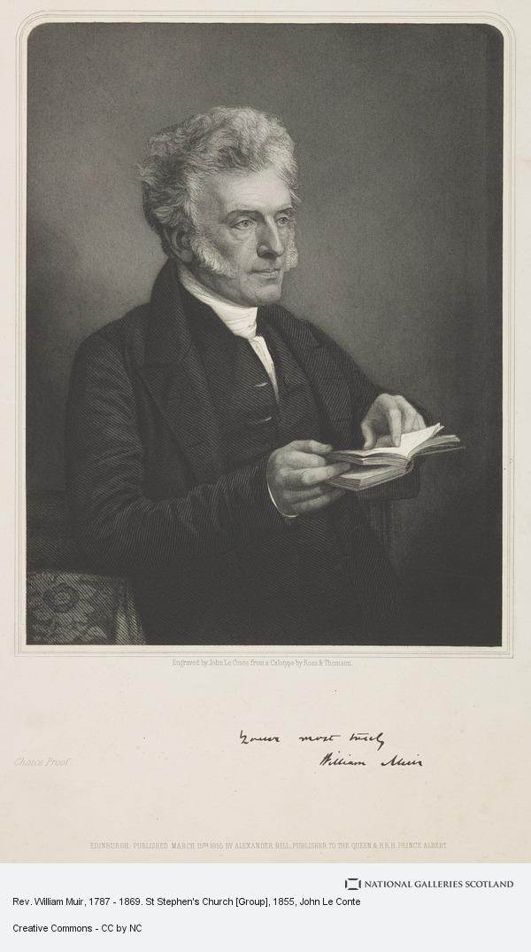 John Le Conte, Rev. William Muir, 1787 - 1869. St Stephen's Church [Group]