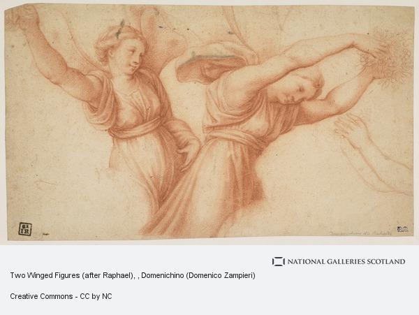 Domenico Zampieri, Two Winged Figures (after Raphael)
