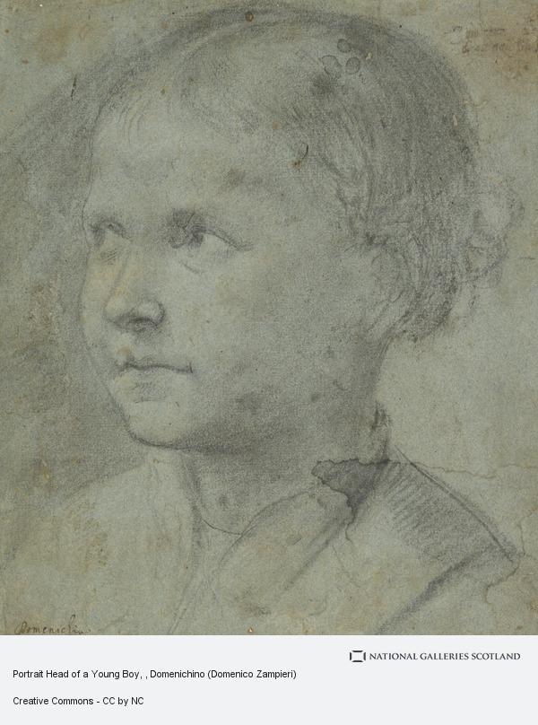 Domenico Zampieri, Portrait Head of a Young Boy