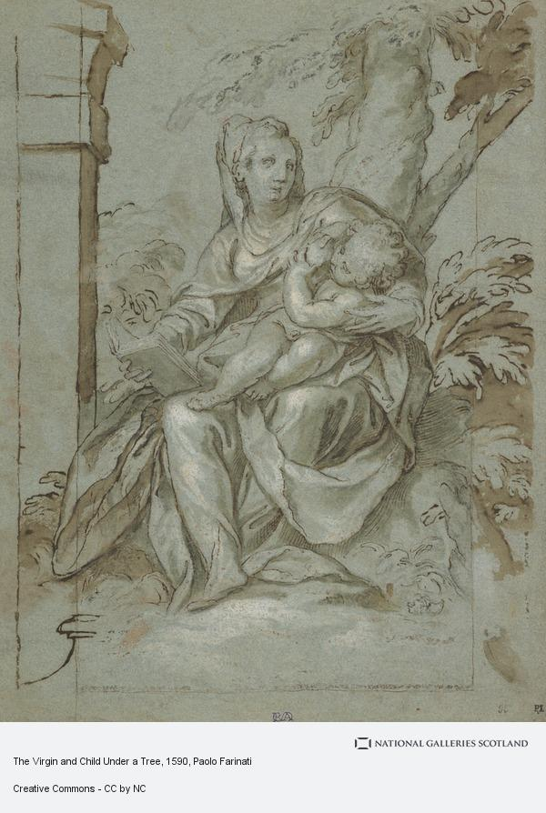 Paolo Farinati, The Virgin and Child Under a Tree (about 1590 - 1600)