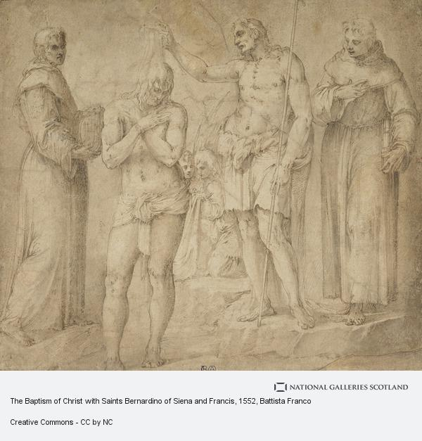 Battista Franco, The Baptism of Christ with Saints Bernardino of Siena and Francis (1552 - 1554)