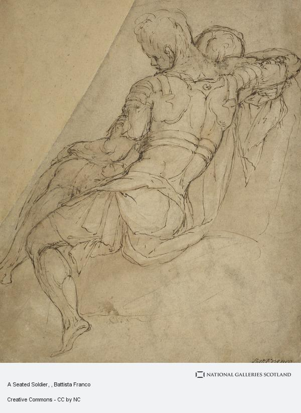 Battista Franco, A Seated Soldier