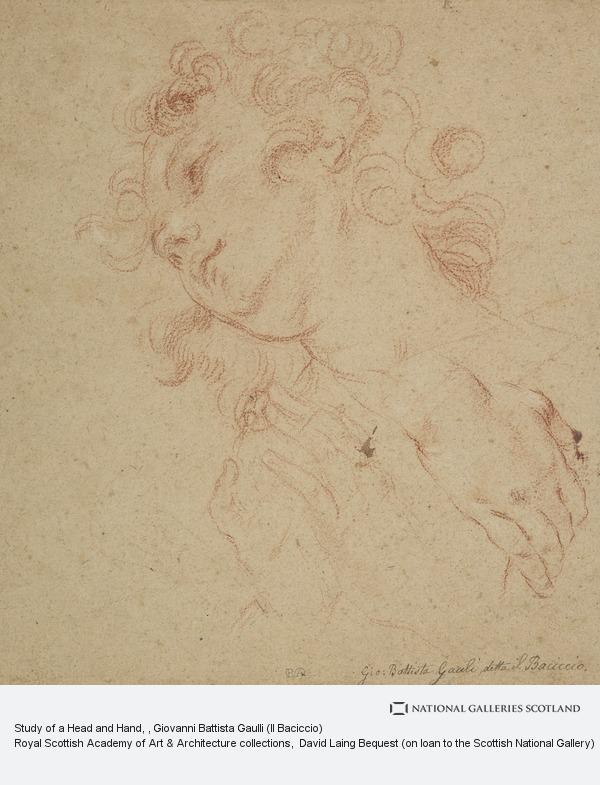 Giovanni Battista Gaulli, Study of a Head and Hand