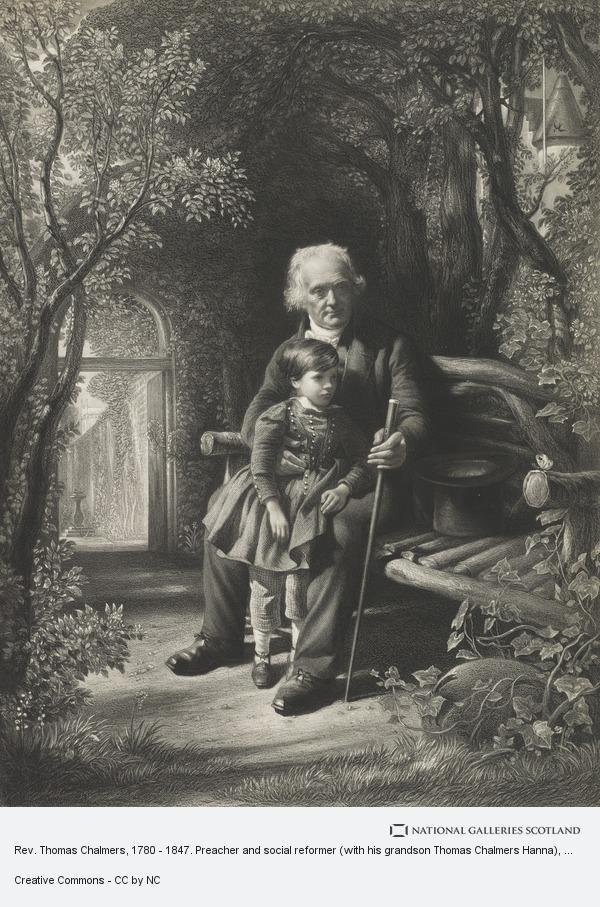 David Octavius Hill, Rev. Thomas Chalmers, 1780 - 1847. Preacher and social reformer (with his grandson Thomas Chalmers Hanna)