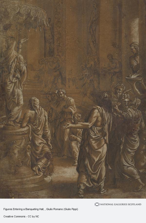 Giulio Romano (Giulio Pippi), Figures Entering a Banqueting Hall
