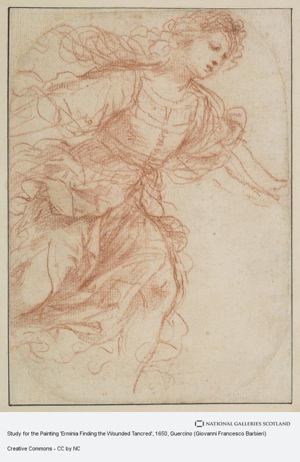 Guercino, Study for the Painting 'Erminia Finding the Wounded Tancred'