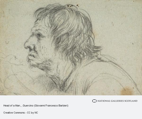 Guercino (Giovanni Francesco Barbieri), Head of a Man