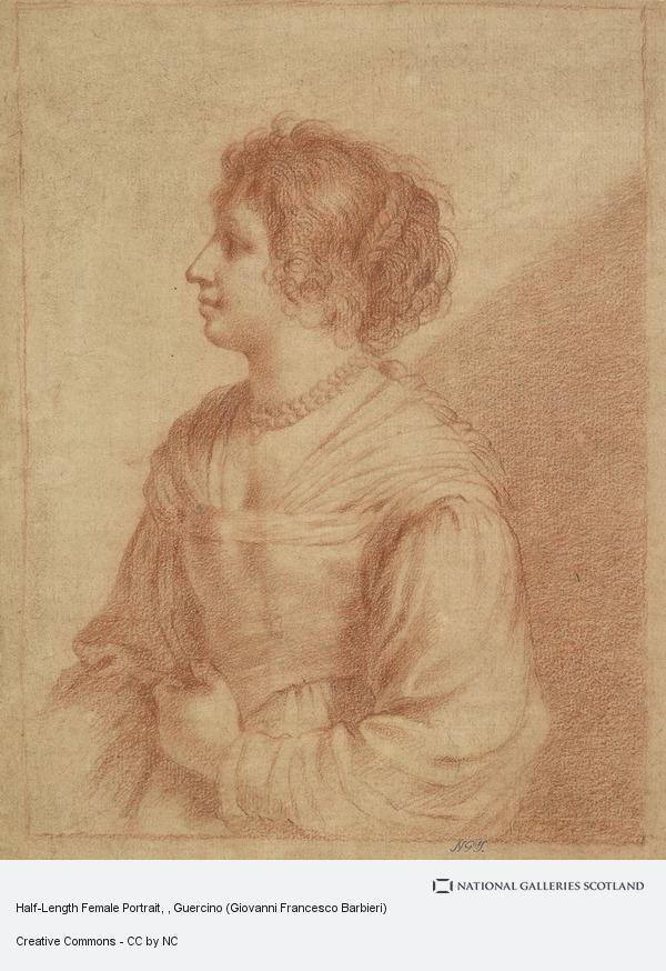 Guercino (Giovanni Francesco Barbieri), Half-Length Female Portrait