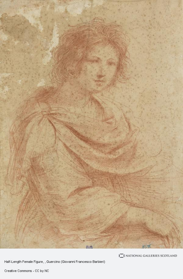 Guercino (Giovanni Francesco Barbieri), Half-Length Female Figure