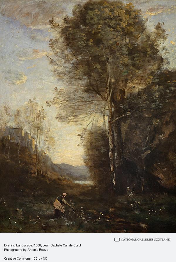 Jean-Baptiste Camille Corot, Evening Landscape