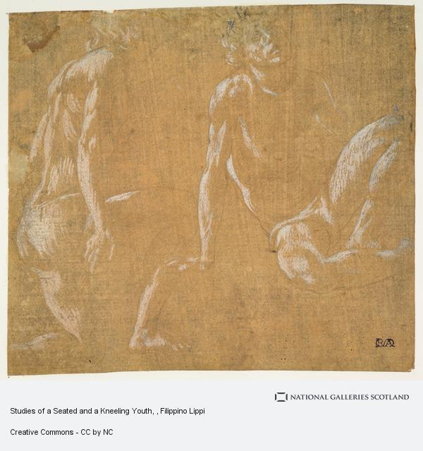Filippino Lippi, Studies of a Seated and a Kneeling Youth