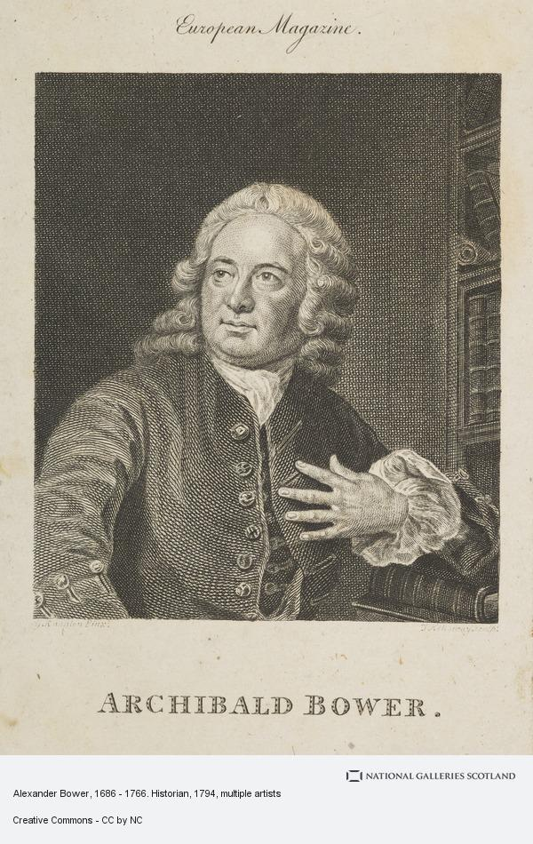Thomas Holloway, Alexander Bower, 1686 - 1766. Historian