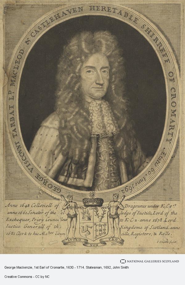 John Smith, George Mackenzie, 1st Earl of Cromartie, 1630 - 1714. Statesman