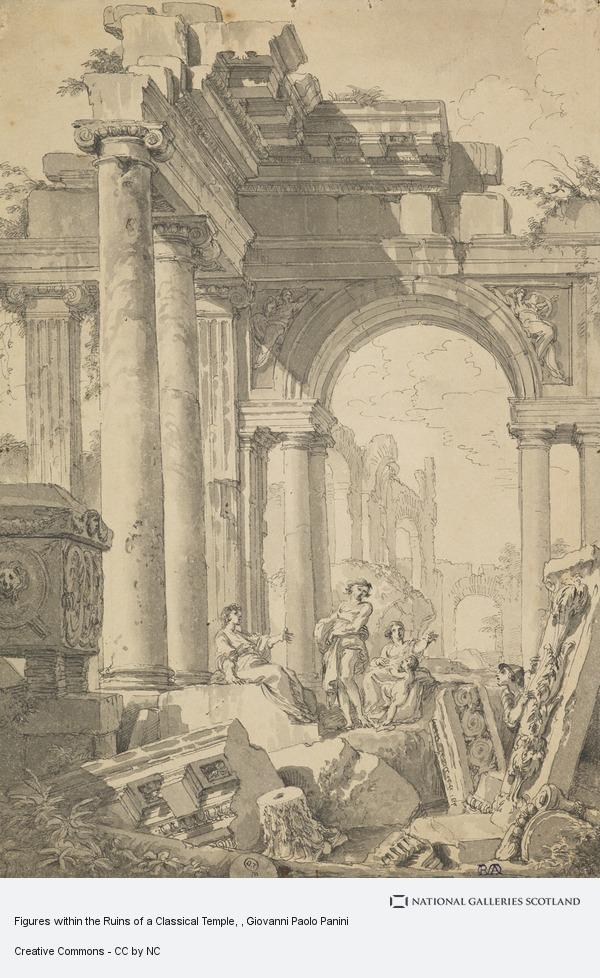 Giovanni Paolo Pannini, Figures within the Ruins of a Classical Temple