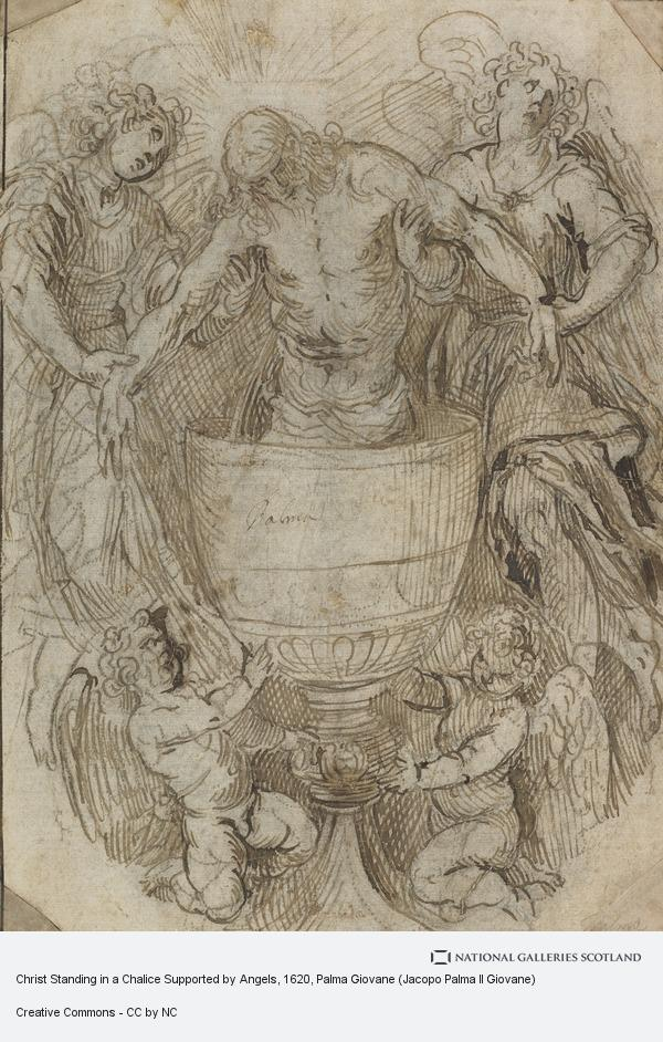 Palma Giovane (Jacopo Palma Il Giovane), Christ Standing in a Chalice Supported by Angels