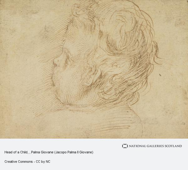 Palma Giovane (Jacopo Palma Il Giovane), Head of a Child
