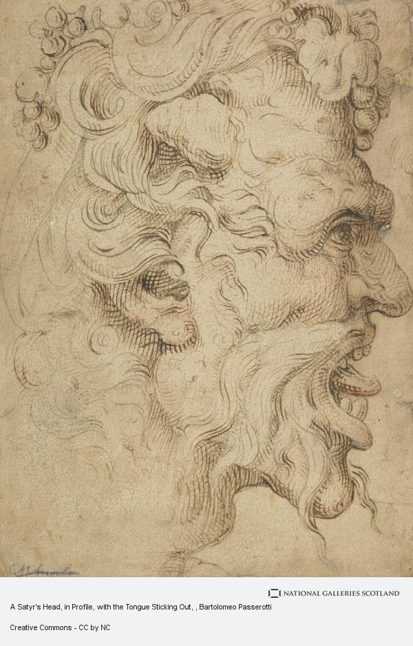 Bartolomeo Passerotti, A Satyr's Head, in Profile, with the Tongue Sticking Out