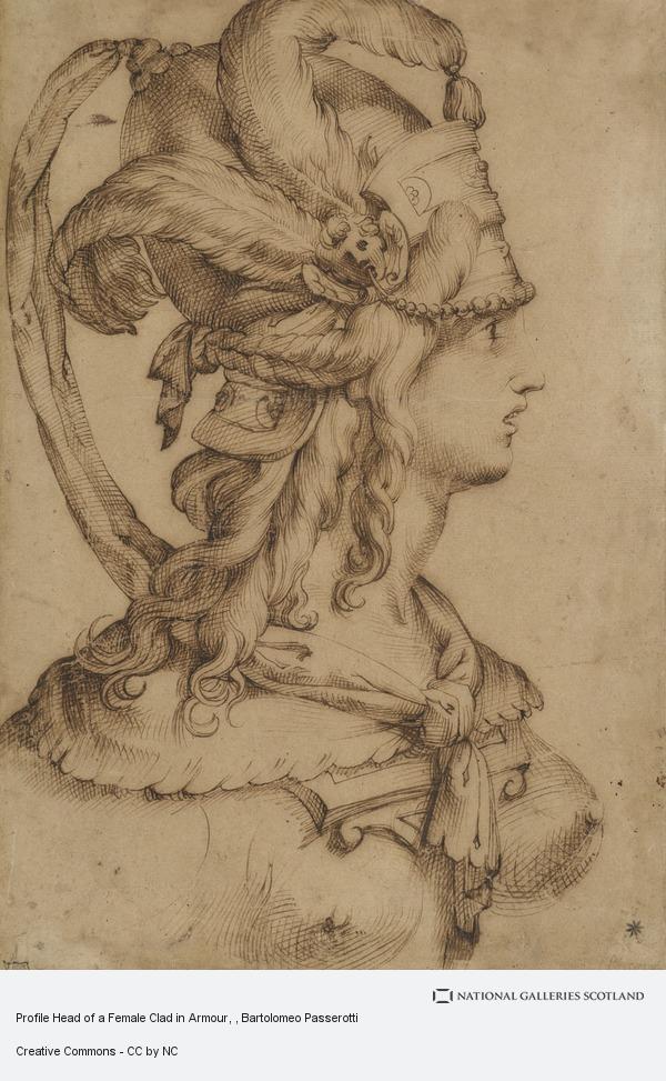 Bartolomeo Passerotti, Profile Head of a Female Clad in Armour