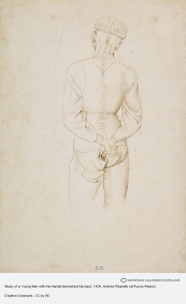 Antonio Pisanello (di Puccio Pisano), Study of a Young Man with his Hands tied behind his back