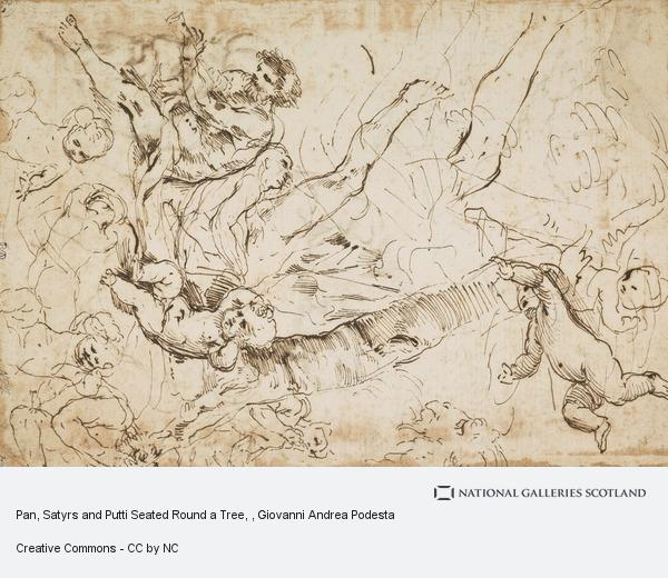 Pan, Satyrs and Putti Seated Round a Tree | National