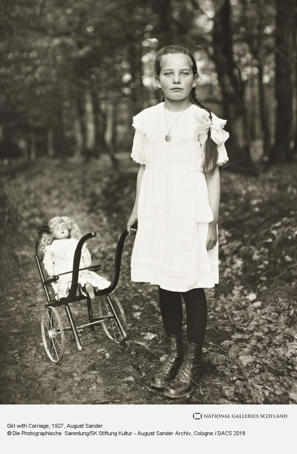 August Sander, Girl with Carriage, c. 1927-30 (about 1927 - 1930)