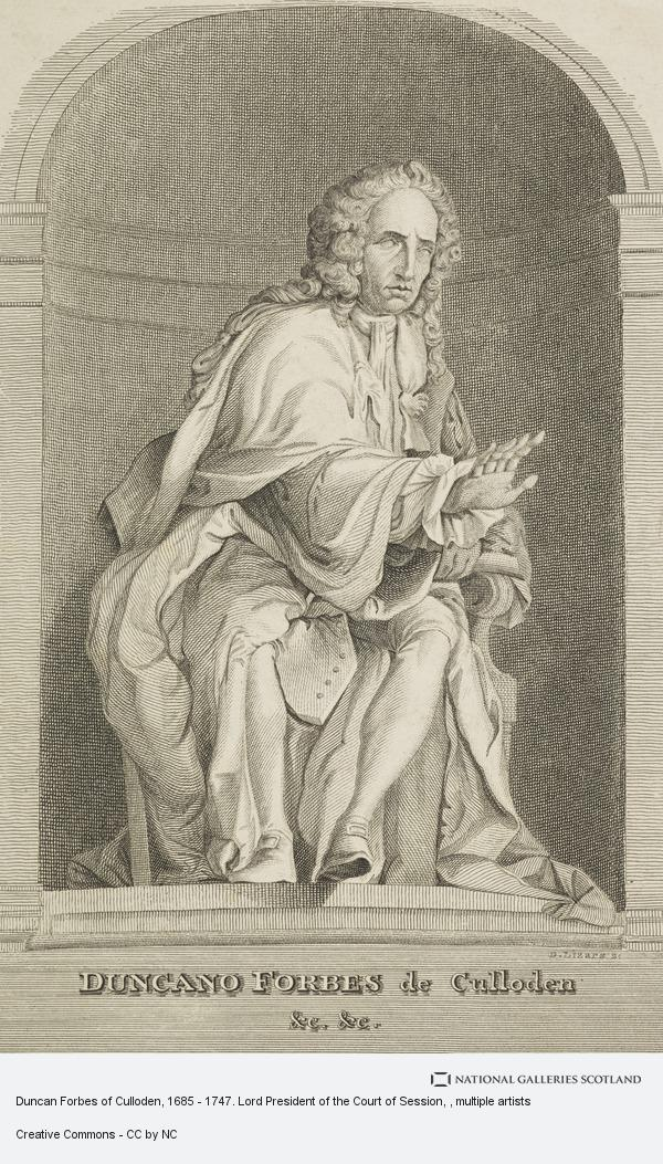 Daniel Lizars, Duncan Forbes of Culloden, 1685 - 1747. Lord President of the Court of Session