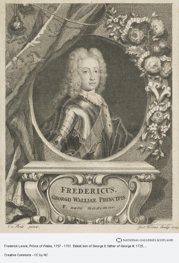 Charles Boit, Frederick Lewis, Prince of Wales, 1707 - 1751. Eldest son of George II; father of George III