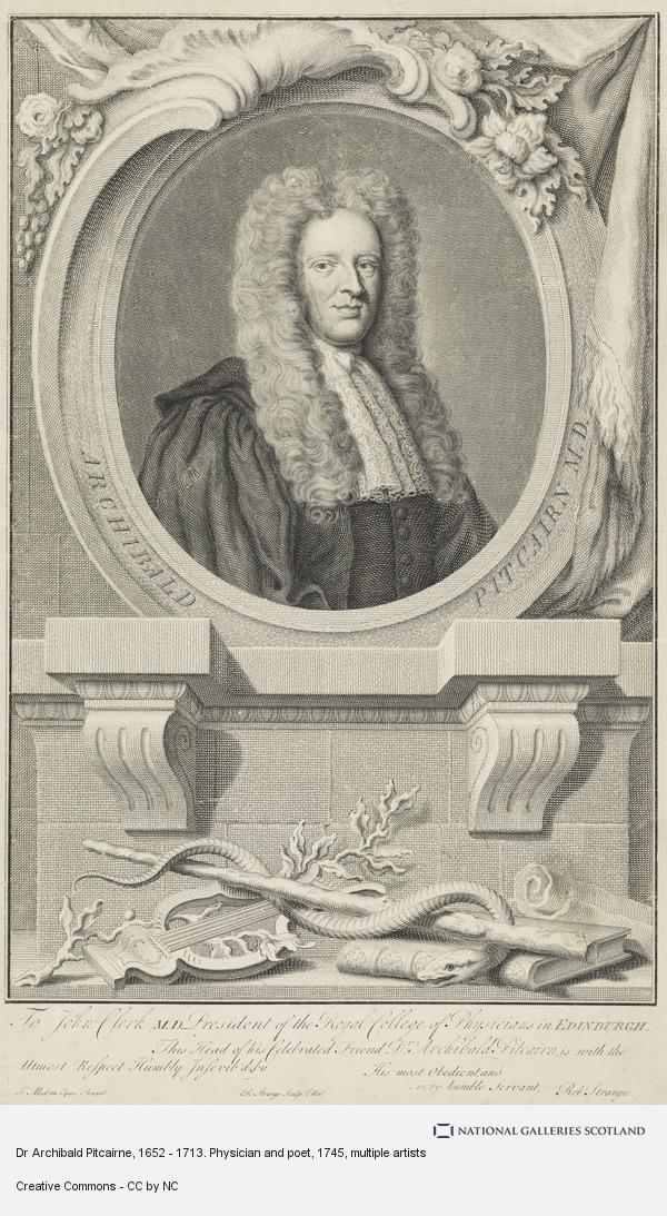 Sir Robert Strange, Dr Archibald Pitcairne, 1652 - 1713. Physician and poet