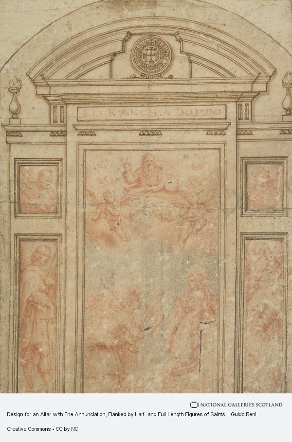 Guido Reni, Design for an Altar with The Annunciation, Flanked by Half- and Full-Length Figures of Saints