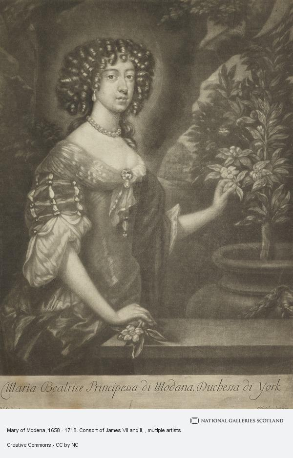 Abraham Blooteling, Mary of Modena, 1658 - 1718. Consort of James VII and II