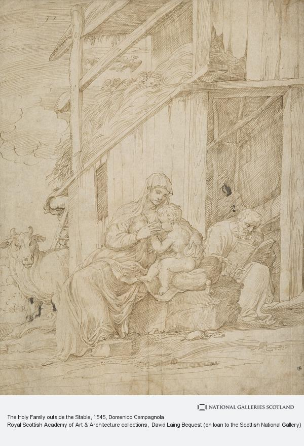 Domenico Campagnola, The Holy Family outside the Stable