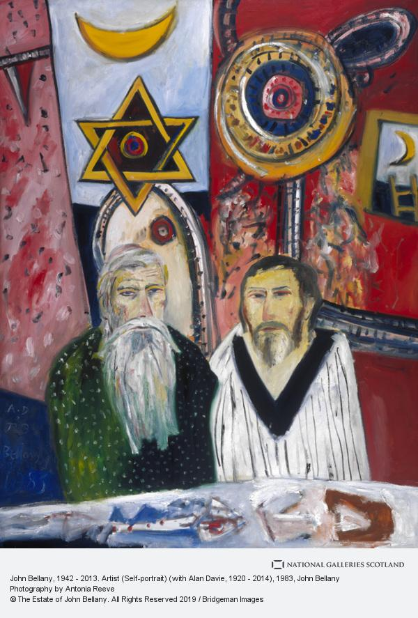 John Bellany, John Bellany, b. 1942. Artist (Self-portrait) (with Alan Davie, b. 1920)