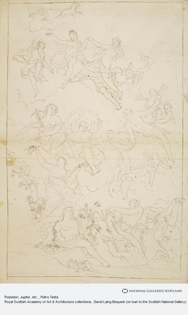 Pietro Testa, Poseidon, Jupiter, etc