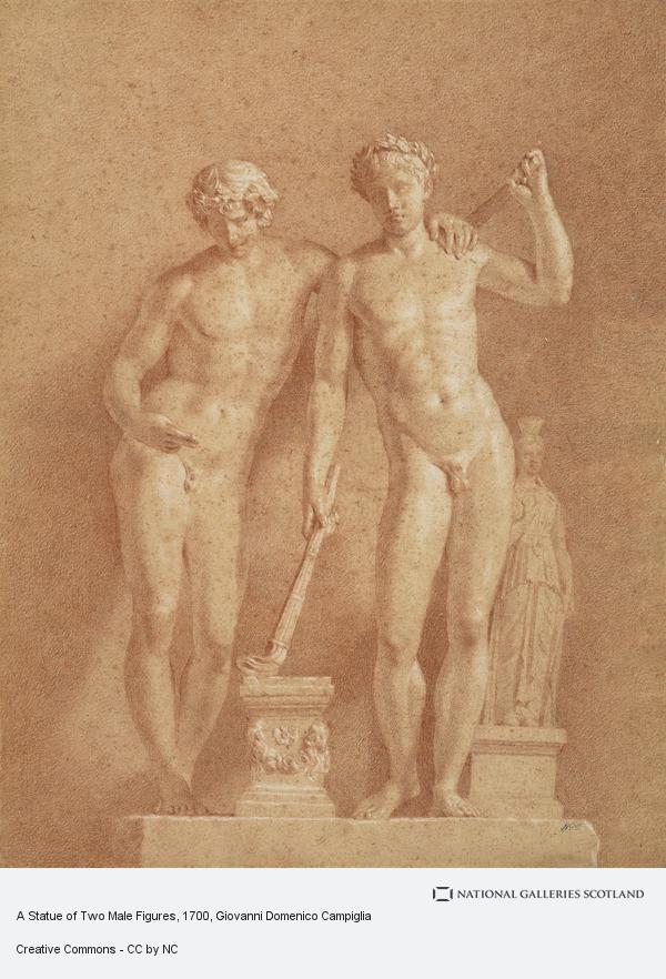 Giovanni Domenico Campiglia, A Statue of Two Male Figures