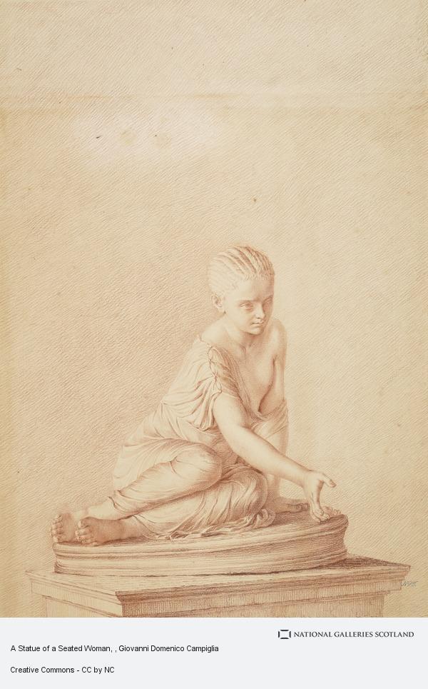 Giovanni Domenico Campiglia, A Statue of a Seated Woman