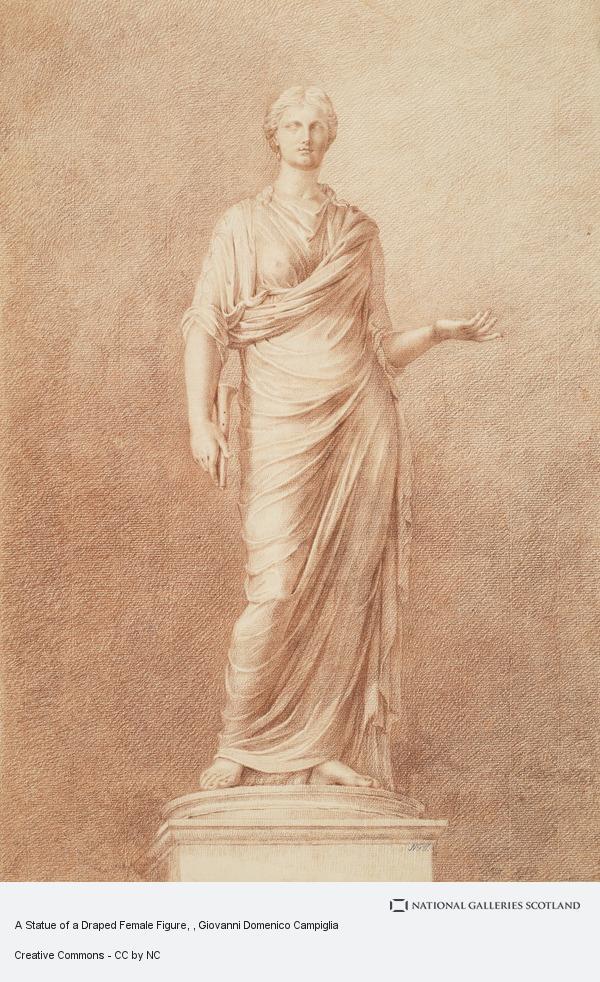 Giovanni Domenico Campiglia, A Statue of a Draped Female Figure