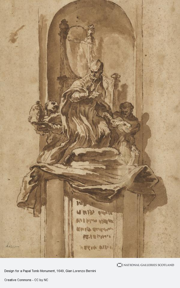 Gian Lorenzo Bernini, Design for a Papal Tomb Monument