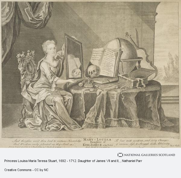 Nathaniel Parr, Princess Louisa Maria Teresa Stuart, 1692 - 1712. Daughter of James VII and II