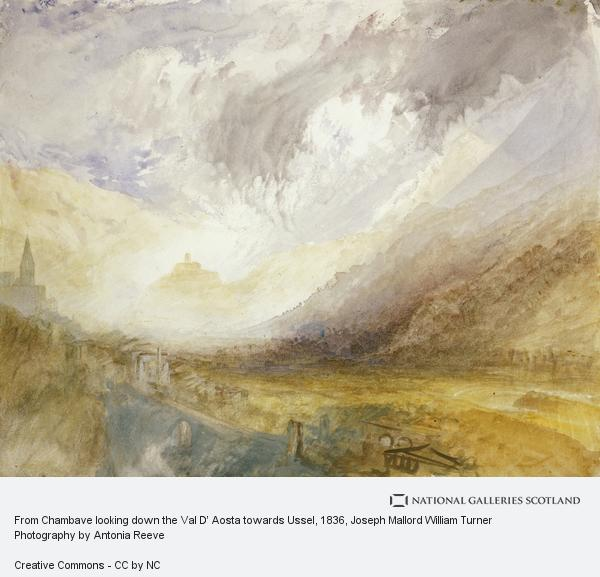 Joseph Mallord William Turner, From Chambave looking down the Val D' Aosta towards Ussel