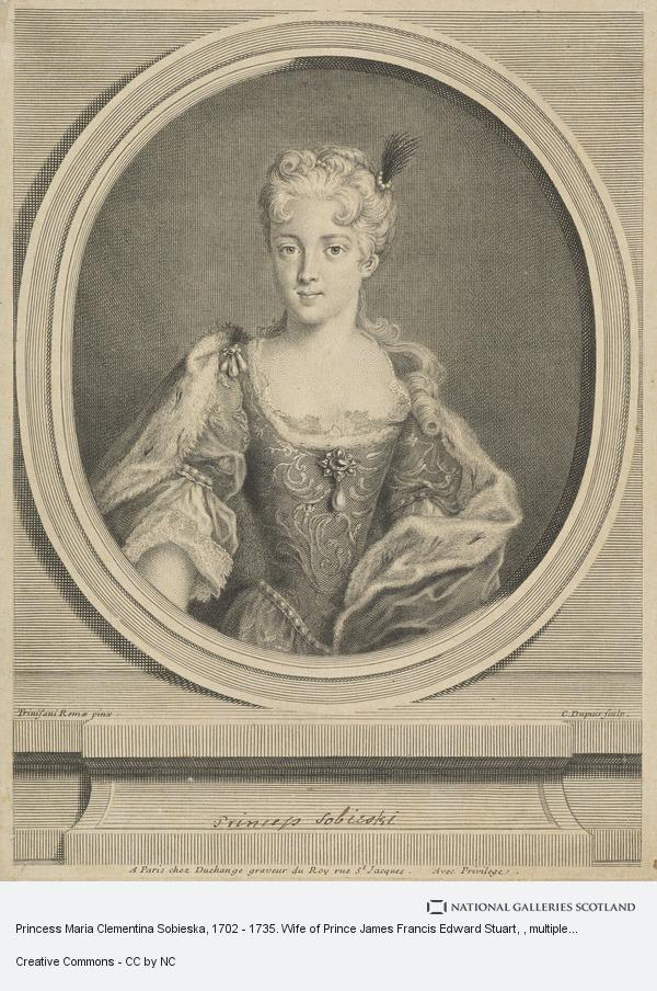 Charles Dupuis, Princess Maria Clementina Sobieska, 1702 - 1735. Wife of Prince James Francis Edward Stuart