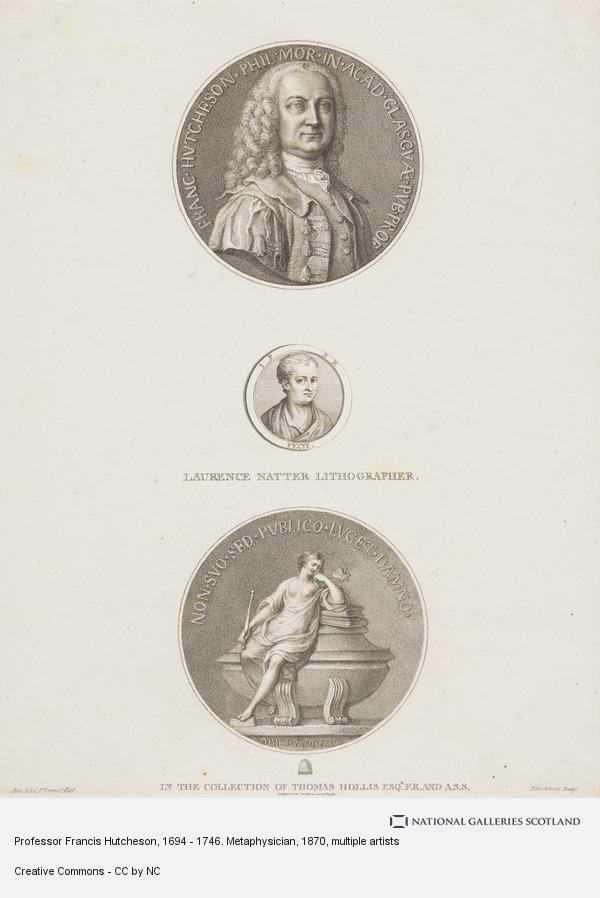 Francesco Bartolozzi, Professor Francis Hutcheson, 1694 - 1746. Metaphysician